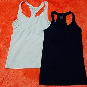 Two Champion Athletic Tanktops Sz Sm White/Black